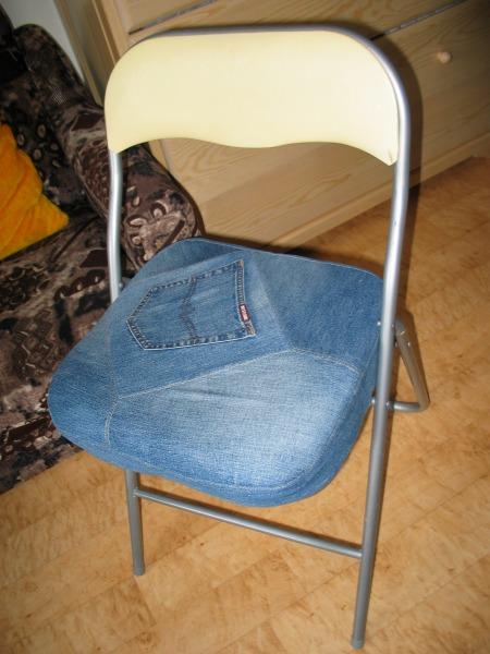 Чехол на стул из джинсов своими руками